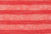 Table Runner Fabric / Coral/yellow/navy / by Jackie Mamer
