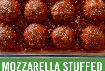 mozzarella balls stuffed meatball sliders