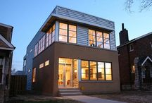 New Modern Home / The Owners, a young married couple with a small business, wanted a sustainable modern 'Dwell House' for their lot in South St. Louis.