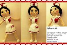 muñecas amigurumi / muñecas amigurumi, patrones propios. personalizadas a gusto del cliente.   medidas: desde 30 cm en adelante.
