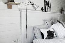 Träpanel sovrum