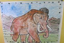 Pravěk / dávné časy - dinosauři, mamuti, ...
