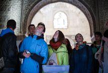 """Para saber más / Vivir y sentir la Alhambra forma parte del programa experimental """"Vivir y sentir el Patrimonio"""", siendo la Alhambra el primer recurso patrimonial sobre el que se esta llevando a cabo el desarrollo de dicho programa educativo."""