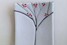 Fused sushi plate / Cherry blossoms