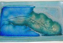 Ceramic jewerly and glass+clay