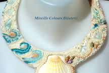 HANDMADE JEWELRY - NECKLACES-  Mireille Colours Bijuterii / Unic handmade necklaces made by Mireille Colours Bijuterii