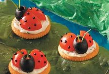 Appetizers ♪ ♫ Finger Foods ♪ ♫ H'orderves ♪ ♫  / Not responsible for the calorie intake of these delicious Snacks, Appetizers & Hors doeuvres ,Luv the Lady Bugs and the finger foods you will find inside, enjoy