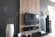 painel tv sala madeira