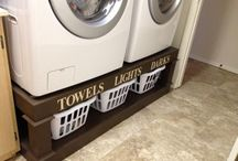 Wash, dry, fold, repeat...., / Even the laundry room can be relaxing.... Maybe;)