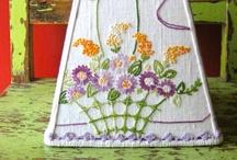 Nakışlı abajur -embroidery lamp