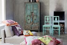 Bohemian Home Decor / Home style that does not follow design rules. Patterns, colors and textures are mixed and blended together in the most vibrant, interesting and unexpected ways. Boho chic home and home decorating ideas and inspirations.