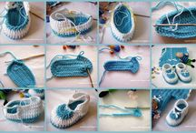zapatos bebe crochet / by Moris Sadu