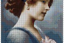 Cross stitch / Lady