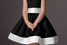 vestido preto/branco