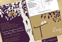 Eggplant Purple and Gold Wedding