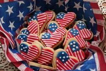 Red, white & blue/ 4th July/ Independence Day / Prepare for a patriotic party with all things Red, White & Blue