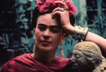 Frida Kahlo Mexican Painter / Looking at her self portraits