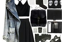 """""""dark outfits"""""""
