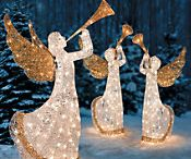 Lighted Outdoor Angel Christmas Decoration / Lighted outdoor angel decorations for your lawn and yard Christmas holiday display.