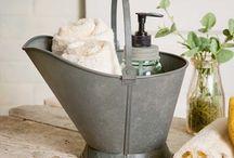 Farmhouse half bath ideas