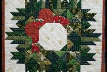 christmas quilt wreath