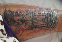 tattoo healing process / 4 weeks time