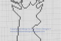 Bead/cross stitch patterns / by Jackie Wright