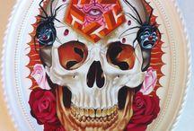 Day of the Dead, Gustavo Rimada and Skulls / illustrations, Art, tattos / by Sam Raimi