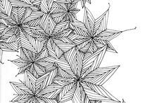"""zentangle / What a nice name - for what I used to call """"doodling"""". Still do. But """"zentangle"""" is kinda nicer... / by Felicity McCarthy"""