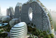 Futuristic landscape architecture