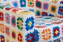 Capas de crochê para móveis e pufs