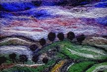 Needle felting by Catherine Jackson Textile artist