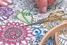 Zenbroidery / Coloring books meet embroidery