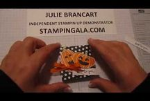 How to Videos for Papercrafting / Video tutorial and techniques for Stampin Up cards and 3-D items, DYI cards and favors.