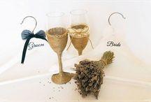 Pahare miri / Wedding champagne set
