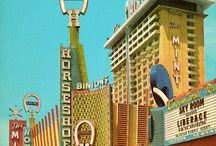 Retro Vegas style design / Signage, posters, buildings, inspiration and influence
