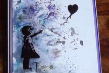 Banksy inspired cards