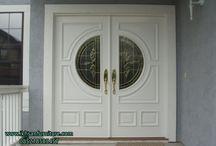 Pintu rumah / Jual pintu rumah kusen jendela kayu jati dan mahoni mebel jepara