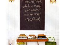 Chalkboard Quotes / Children's chalkboard art home chalkboard / by Sara Sheets