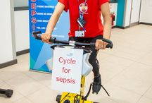 Cycle for Sepsis on World Sepsis Day 2017 / QE Gateshead staff raising awareness and money for our hospital charity