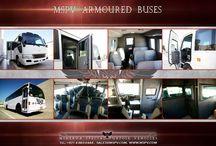 Armored passenger bus