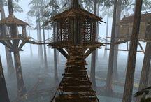Hus i trærne