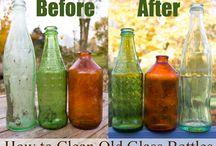 Clean old bottles / Clean old bottles