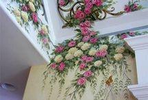 Потолок и стены художественная роспись