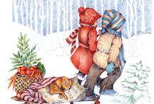 Winter Christmas Cards