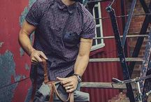 Men fashion and hairstyle