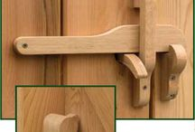 Wooden latches