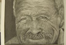 """If Eyes Could Talk / If eye could talk"""" Graphic Pencil and Paper $60 for sale can frame it will need to check now much it will cost. if you have any black and white photo of you granddad or grandma and would like me to draw for you,  just send me a message and I can look at your photo"""
