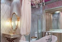 Bombshell Powder Room / Pink bathroom? Check! Let's talk about the water closet, bathroom, powder room. Yes! / by Abiola Abrams, Empowerment Coach