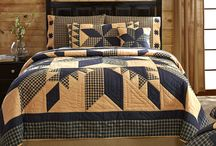 Quilts / An assortment of country primitive home or cabin quilts. 100% Cotton.  Hand Quilted.
